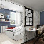 Дизайн маленькой студии 25 кв. м.