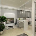 Дизайн однокомнатной квартиры 40 кв. м. — полет фантазии