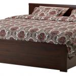 Двуспальные кровати с ящиками для белья