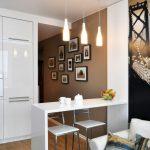 Интерьер маленькой кухни гостиной