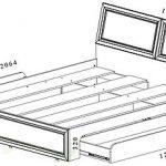 Кровать двуспальная Фиеста-М КР-504 160х200 венге