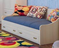 Кровать с ящиками Вега ДМ-09
