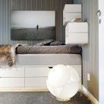 Односпальная кровать с ящиками