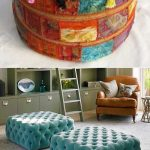 Оформление детской комнаты с помощью пуфика