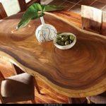 деревянный стол из цельного дерева