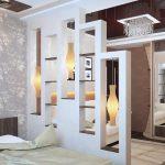 Перегородки в комнате из гипсокартона