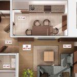 Планировка однокомнатной квартиры кухня-студия