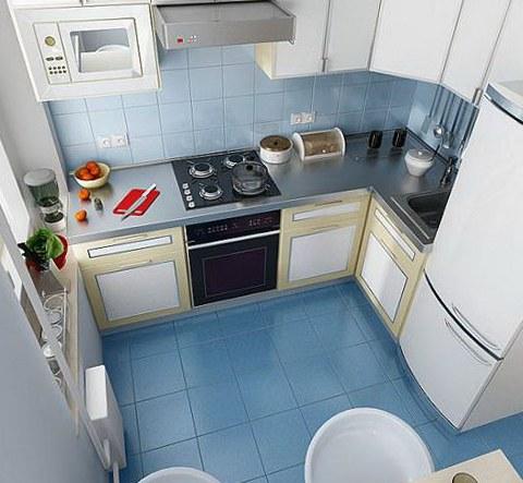 Правильная расстановка мебели в маленькой кухне особенно важна