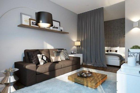 Пример расстановки мебели в однокомнатной квартире