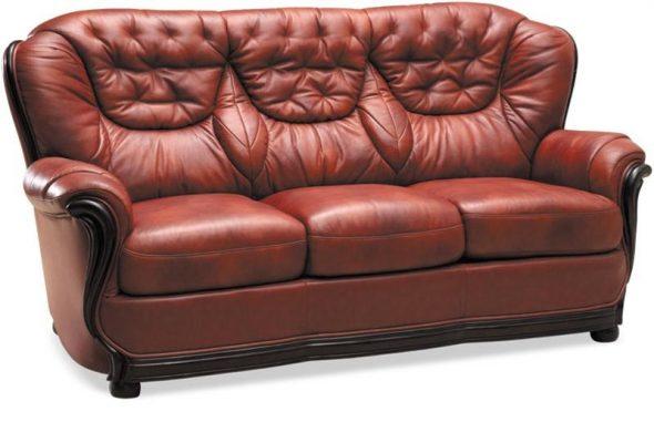 Сенатор диван Кожаная мягкая мебель