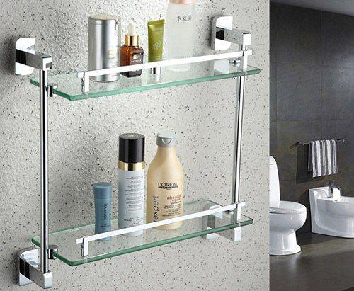 Стеклянные полки для ванной комнаты – удобно и красиво