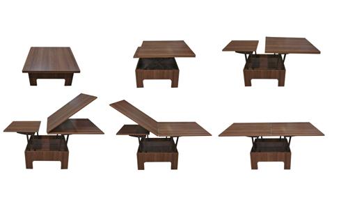 Журнальный стол-трансформер цвет Орех