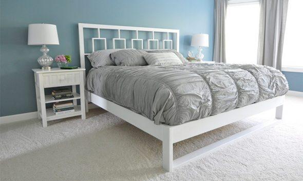 белая кровать фото