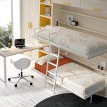 диван двухъярусная кровать трансформер светлый