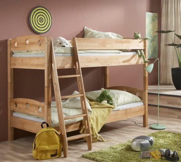 кровать икеа дерево