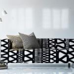еврочехлы на диваны черно белые