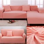 еврочехлы на диваны и кресла коралловые