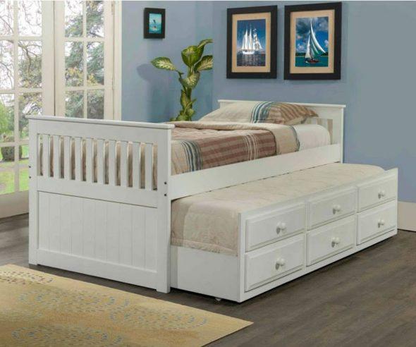 красивая белая детская кровать