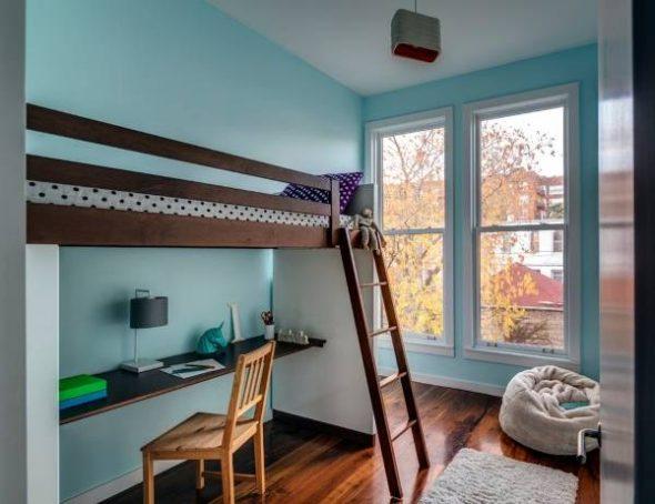 кровать чердак минимализм