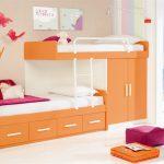 кровать икеа оранжевая