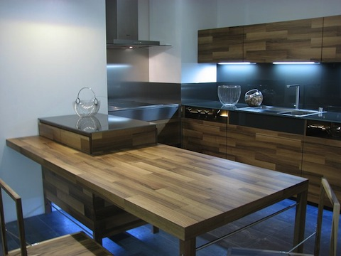 кухня из мебельных щитов-вариант оформления