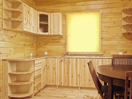 кухня угловая из мебельных щитов
