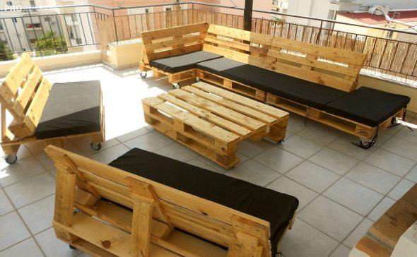 мебель из паллет для дачи