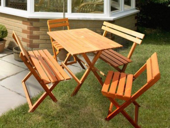 стол и стулья для дачи