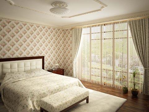 поставить кровать в спальне-вариант
