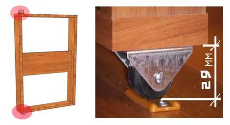 прямоходные колесики для стола-книжки