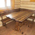 деревянный стол рустик