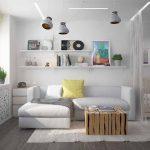 совмещать не более трех функциональных комнат в одном помещении
