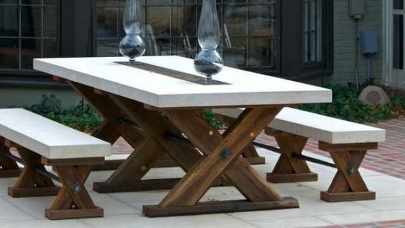стол и скамейки своими руками для дачи