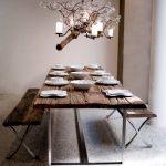 деревянный стол скандинавский стиль