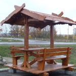 Делаем садовую мебель из дерева-беседка