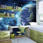 Фотообои - вид из космоса для комнаты мальчика