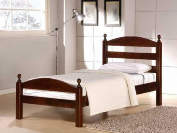 Кровать 90-200 деревянная