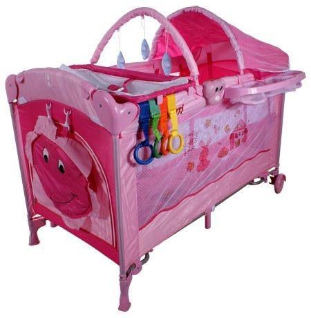Кровать-манеж Arti Deluxe Plus_Home Krolik Domek Pink
