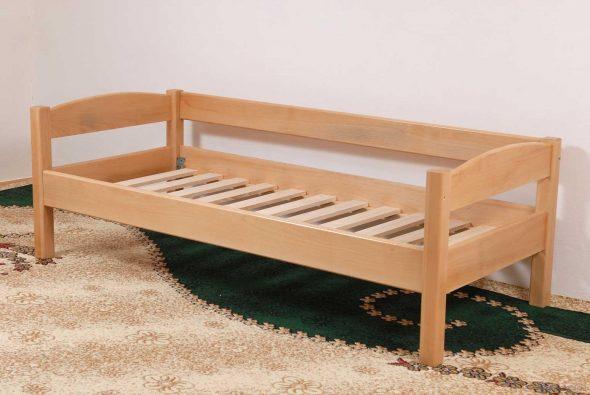 Кровать односпальная деревянная Эврика 90х200