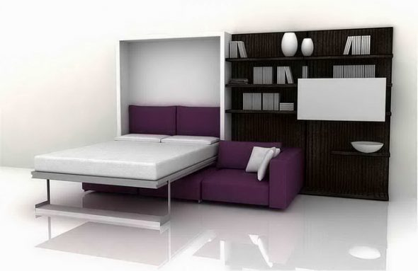 Кровать с подъемным механизмом-дизайн