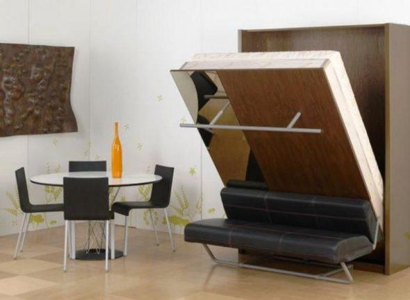 Кровать с подъемным механизмом - это идеальная мебель для небольших по размеру спален