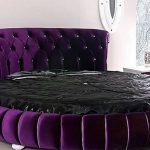 Круглая фиолетовая кровать