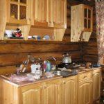 Кухня из мебельного щита фото