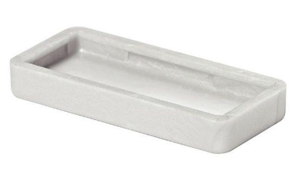 Подпятник мебельный 32х15 мм, серый