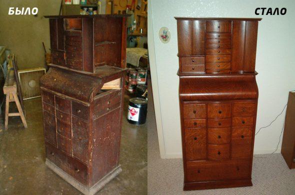 Реставрация мебели-было и стало