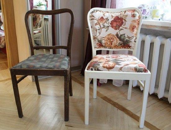 Реставрация старых стульев-ремонт