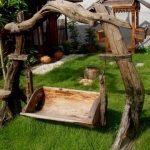 Садовая мебель из дерева - красивые идеи