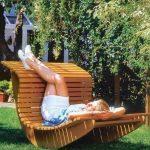Садовое кресло-качалка своими руками