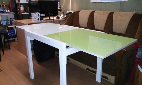 Столы кухонные раскладные (стекло+дсп) от производителя