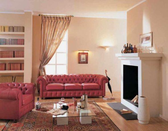 Трехместный диван в интерьере